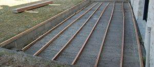 structure en lambourdes sur sol béton