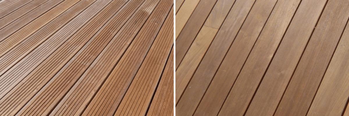 Profils rainuré ou lisse terrasse bois