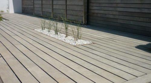 terrasse bois grisé