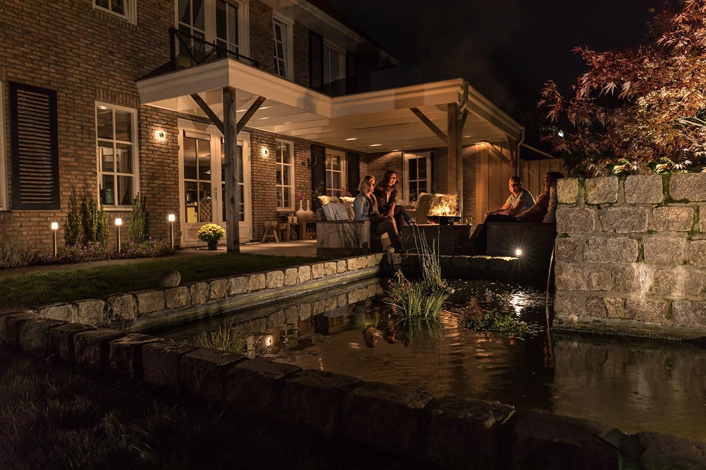 éclairage terrasse ambiance chaleureuse